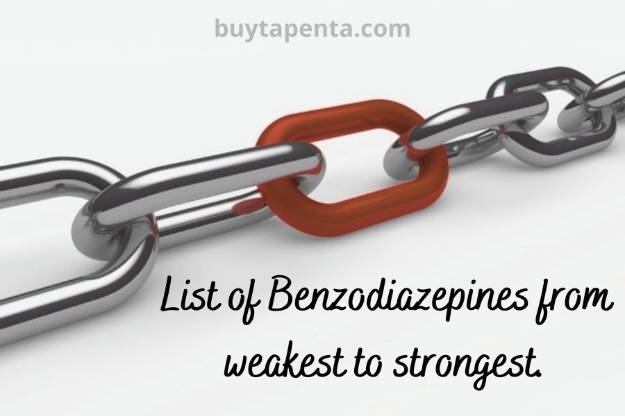 List of Benzodiazepines from the Weakest to the Strongest